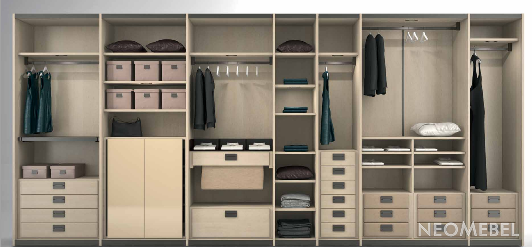 Шкафы гардеробы на заказ спб